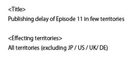 Amazonプライムビデオ『ケムリクサ』第11話の一部の海外配信開始日が変更